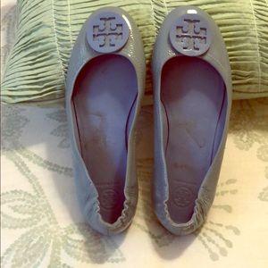 Baby blue ballerina flats